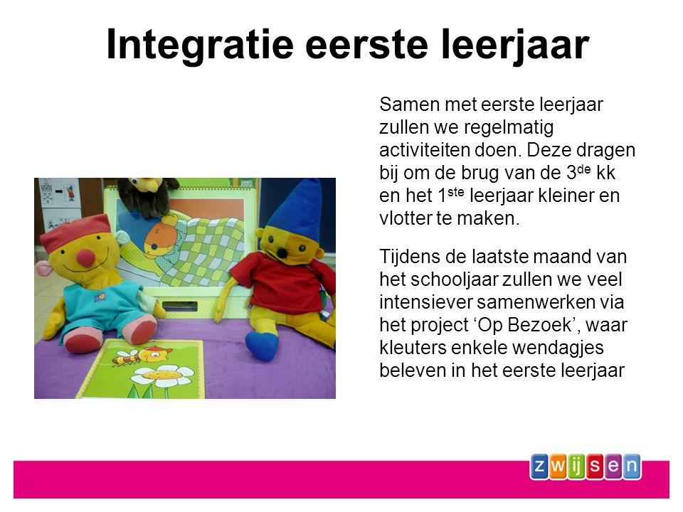 Integratie eerste leerjaar Samen met eerste leerjaar zullen we regelmatig activiteiten doen.