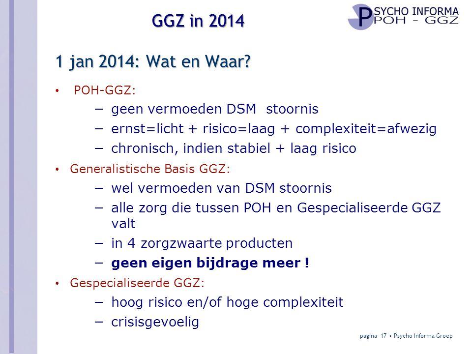 GGZ in 2014 1 jan 2014: Wat en Waar.