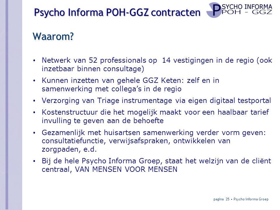Psycho Informa POH-GGZ contracten Waarom.