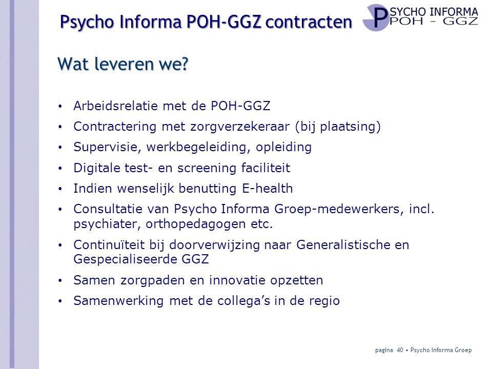 Psycho Informa POH-GGZ contracten Wat leveren we.