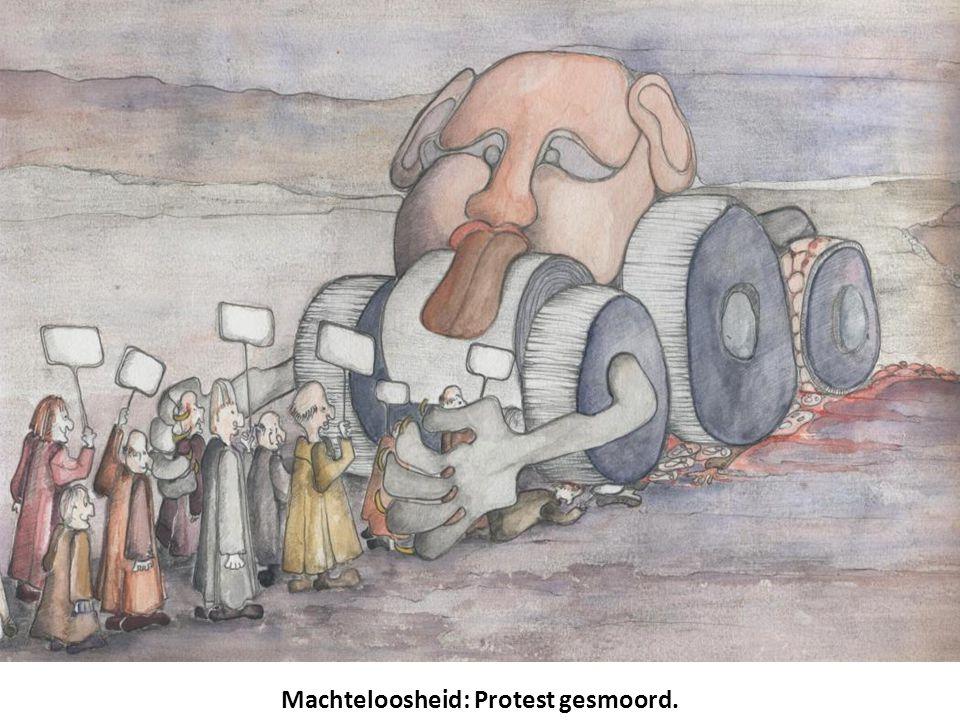 Machteloosheid: Protest gesmoord.