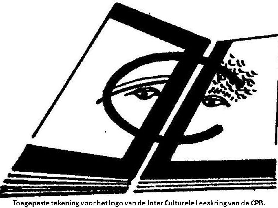Toegepaste tekening voor het logo van de Inter Culturele Leeskring van de CPB.