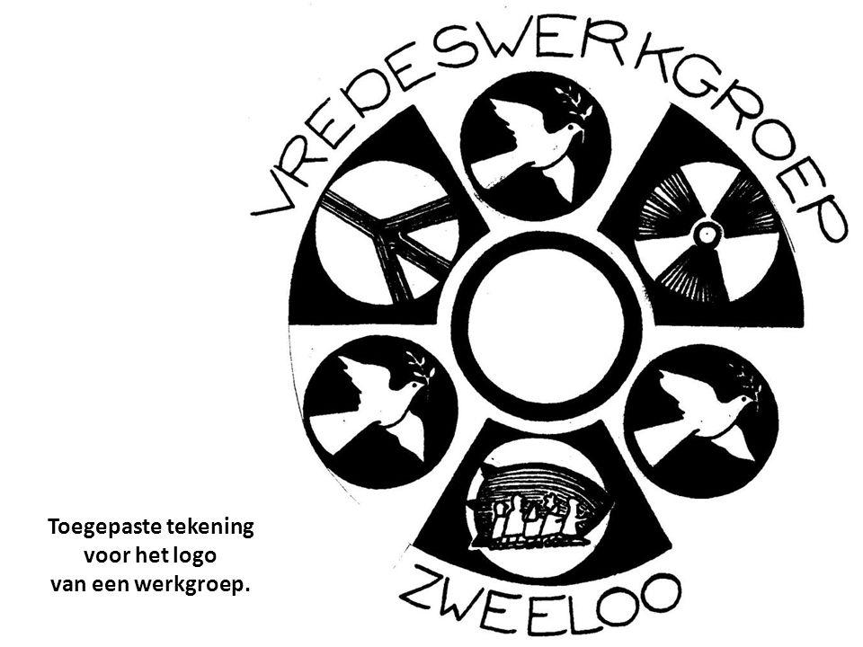 Toegepaste tekening voor het logo van een werkgroep.