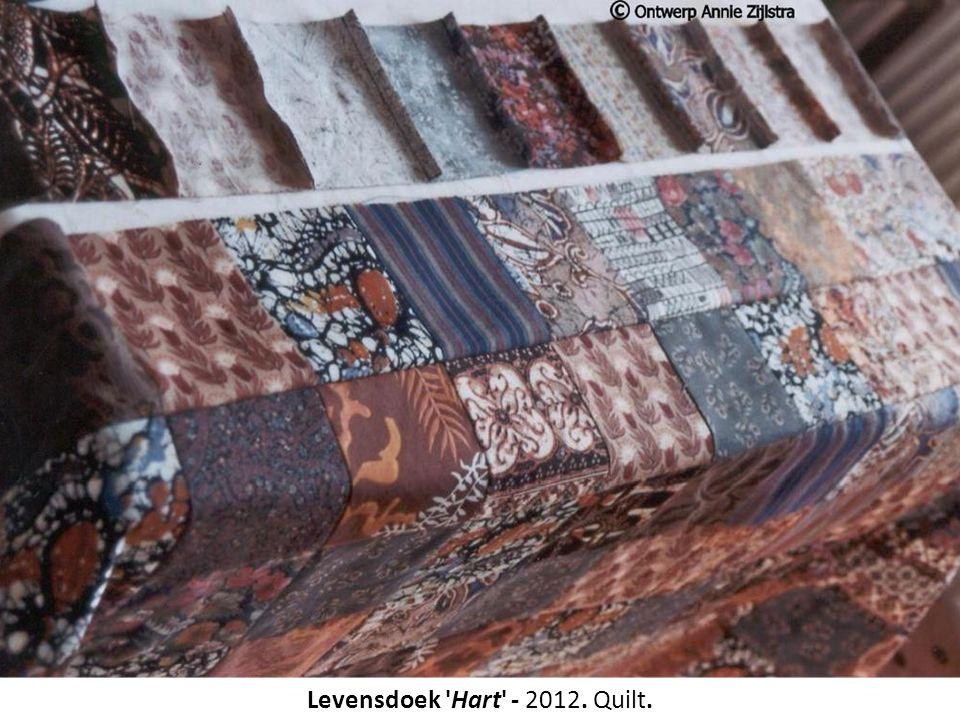 Levensdoek 'Hart' - 2012. Quilt.