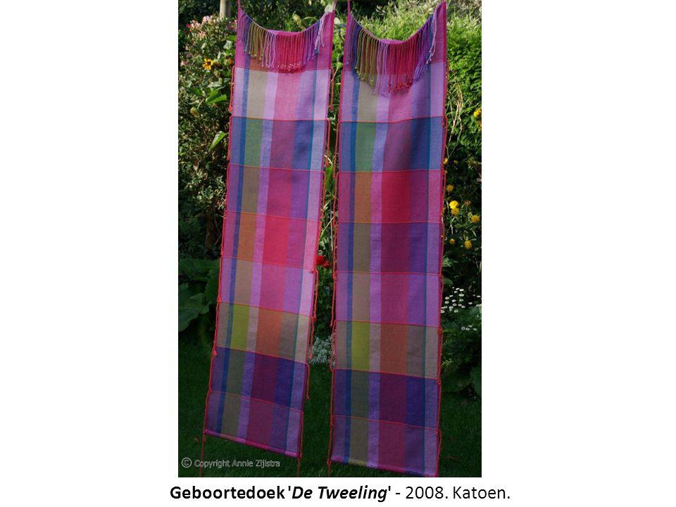 Geboortedoek 'De Tweeling' - 2008. Katoen.
