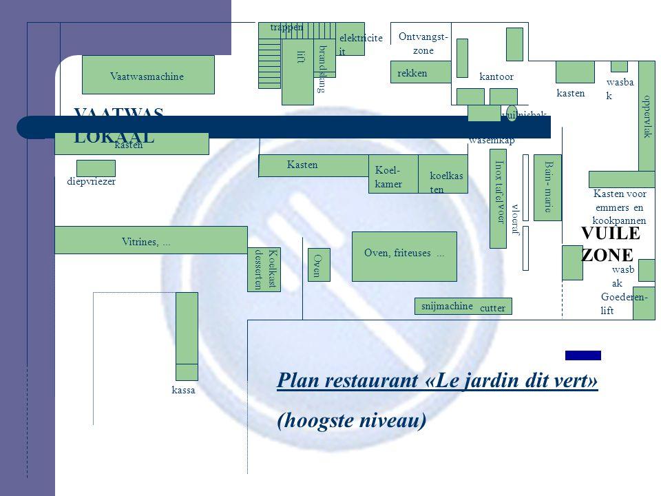 Plan restaurant «Le jardin dit vert» (hoogste niveau)