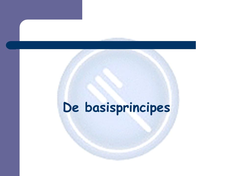 De basisprincipes