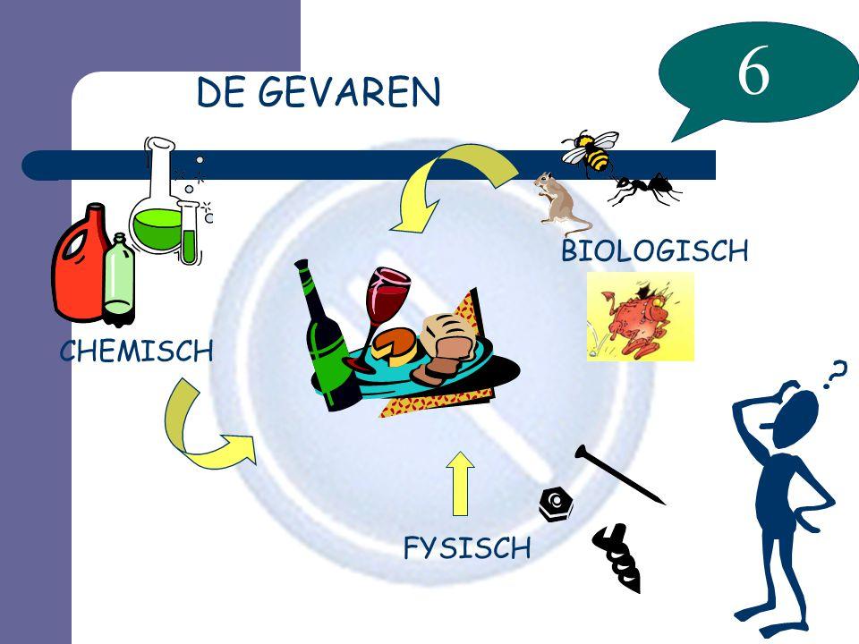 6 DE GEVAREN FYSISCH CHEMISCH BIOLOGISCH