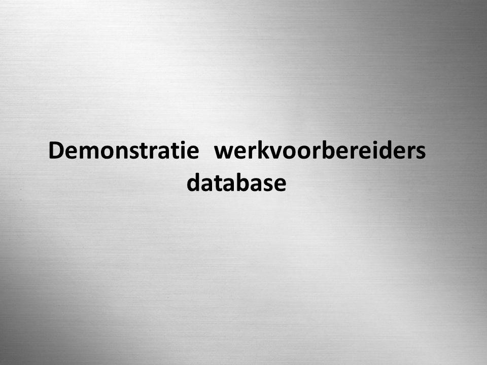N.G. STRUIJKEN 0512222 SLIDE 28 / 36 Demonstratie werkvoorbereiders database