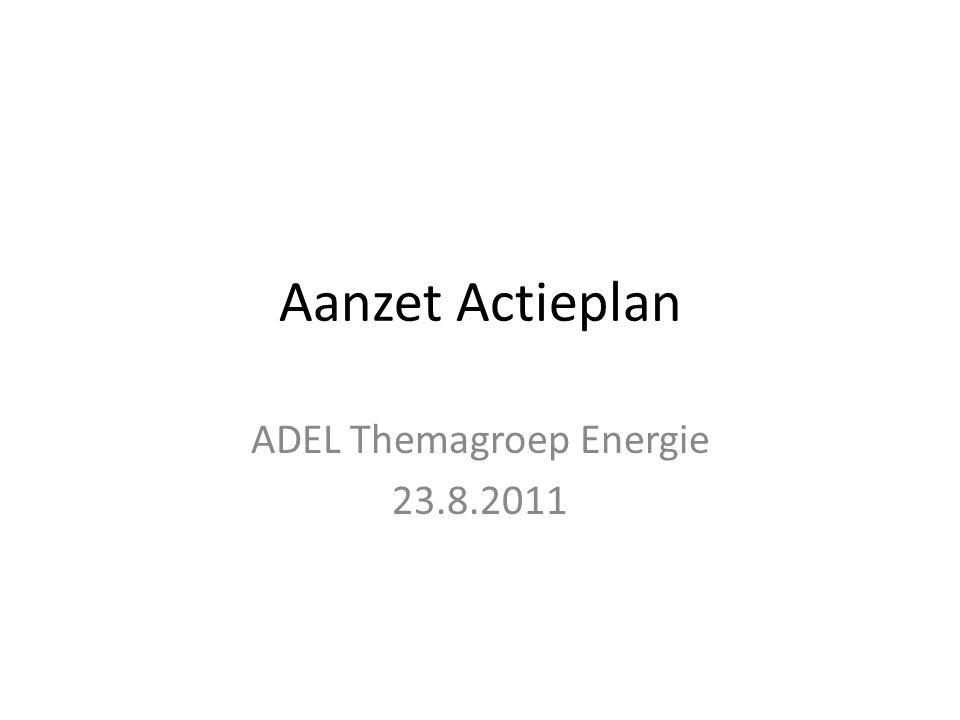 Aanzet Actieplan ADEL Themagroep Energie 23.8.2011