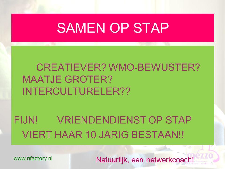 www.nfactory.nl Natuurlijk, een netwerkcoach.Kennismaking - 1 •Ontmoeten.