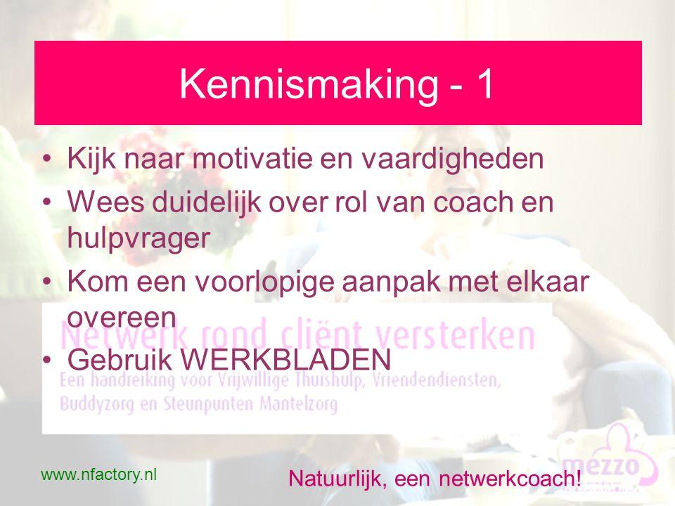 www.nfactory.nl Natuurlijk, een netwerkcoach.Netwerk in beeld - 2 •Focussen.