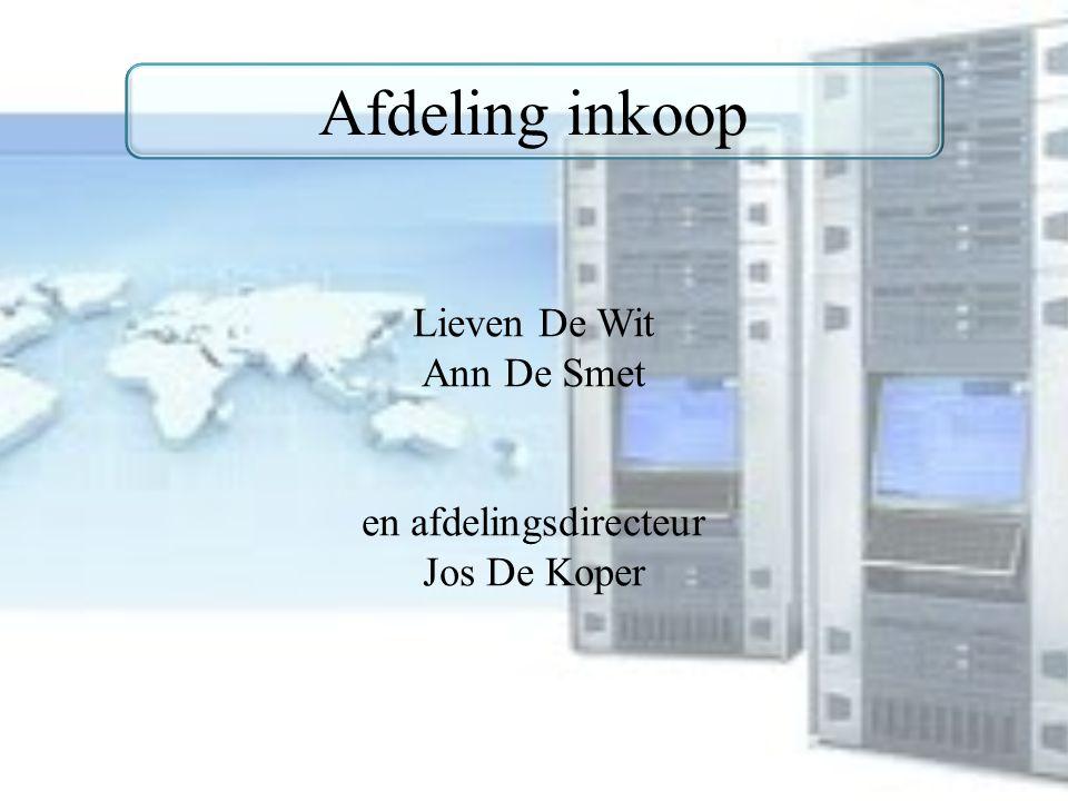 Afdeling inkoop Lieven De Wit Ann De Smet en afdelingsdirecteur Jos De Koper