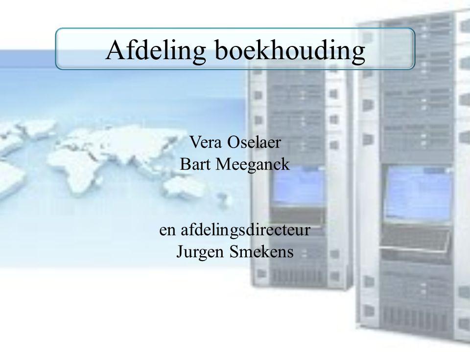 Afdeling boekhouding Vera Oselaer Bart Meeganck en afdelingsdirecteur Jurgen Smekens