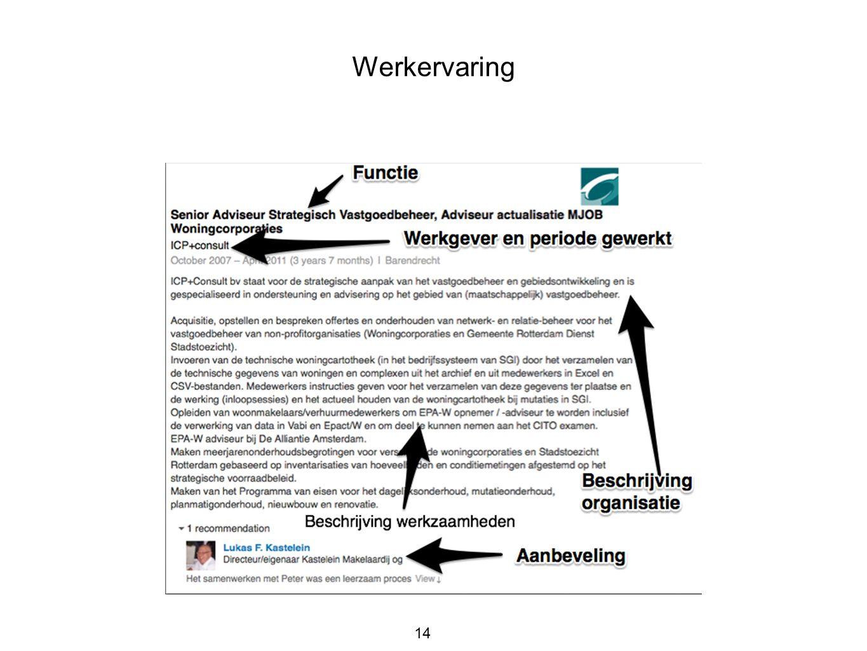Werkervaring 14