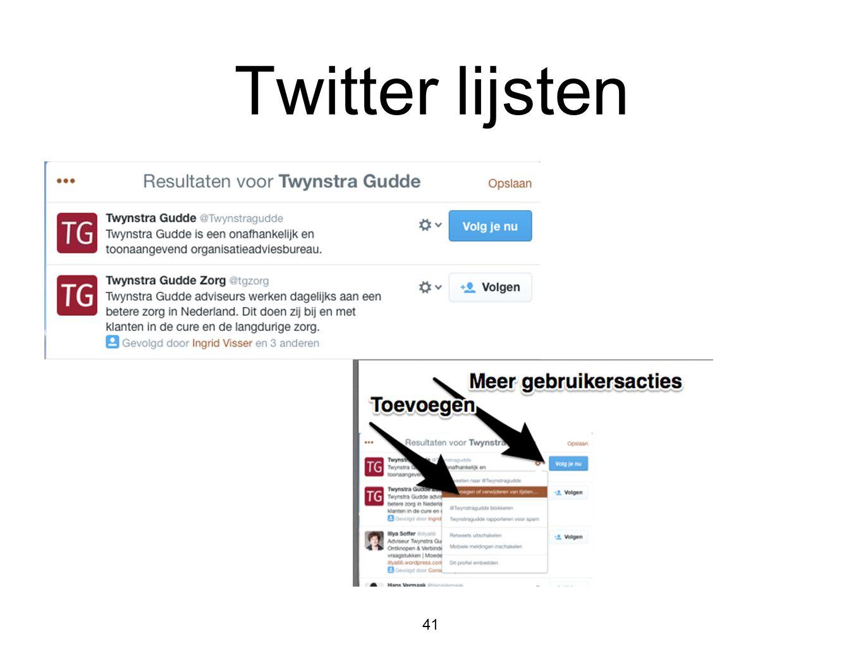 Twitter lijsten 41