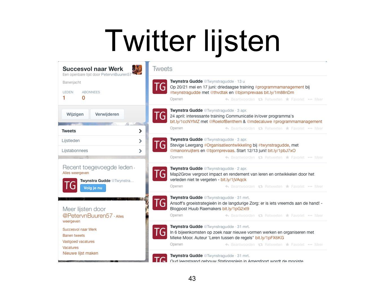 Twitter lijsten 43