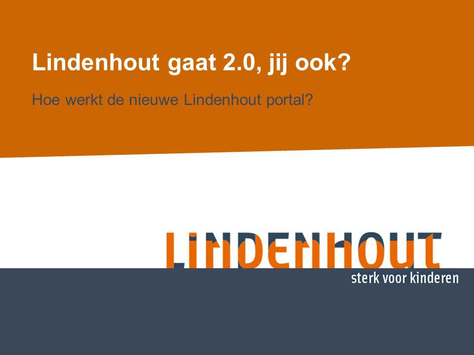 De nieuwe Lindenhout webomgeving De nieuwe webporalt is een systeem met vier doelgroepen, opgebouwd in 'lagen': -De openbare laag -De doe-mee laag waar iedereen aan mee kan doen -De doe-mee laag voor cliënten en bij Lindenhout betrokken professionals -De doe-mee laag voor medewerkers