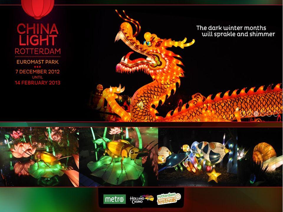 Het evenement China Light Rotterdam is het grootste Chinese lichtspektakel dat ooit in Europa heeft plaatsgevonden.