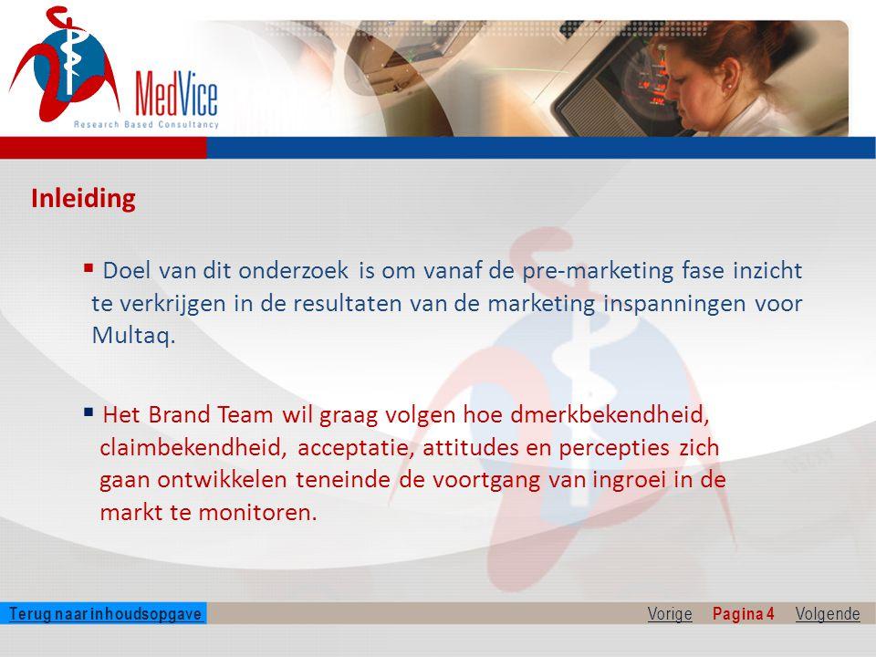  Doel van dit onderzoek is om vanaf de pre-marketing fase inzicht te verkrijgen in de resultaten van de marketing inspanningen voor Multaq.
