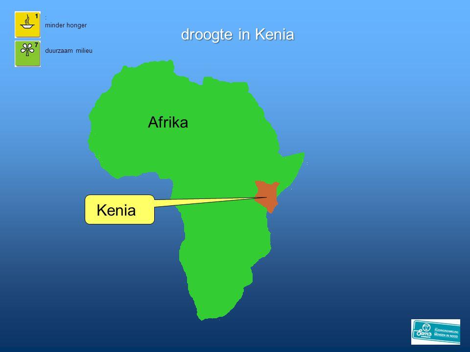 droogte in Kenia : minder honger duurzaam milieu Afrika Kenia
