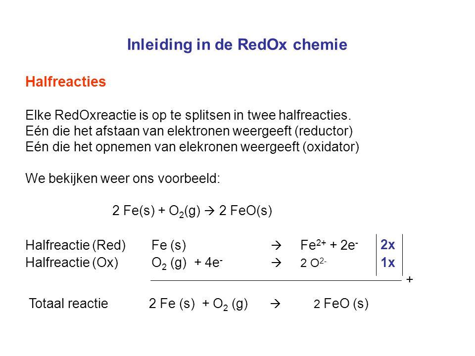 Inleiding in de RedOx chemie RedOx of niet.