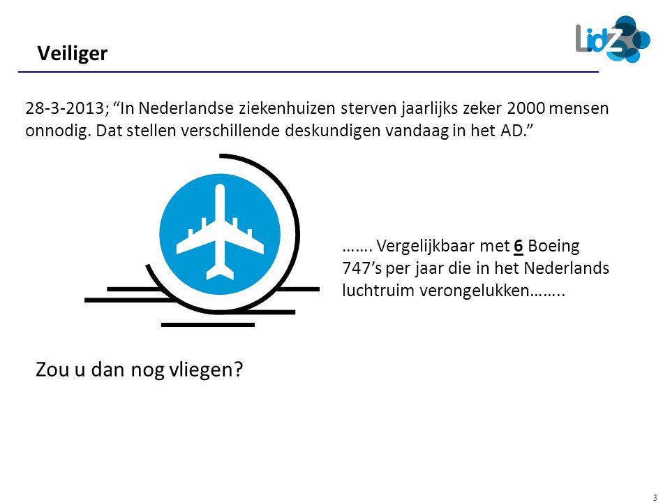 """3 ……. Vergelijkbaar met 6 Boeing 747's per jaar die in het Nederlands luchtruim verongelukken…….. Zou u dan nog vliegen? Veiliger 28-3-2013; """"In Neder"""