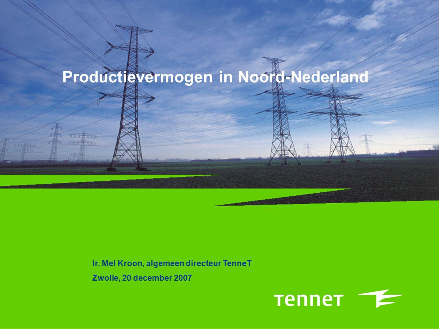 Productievermogen in Noord-Nederland Ir.