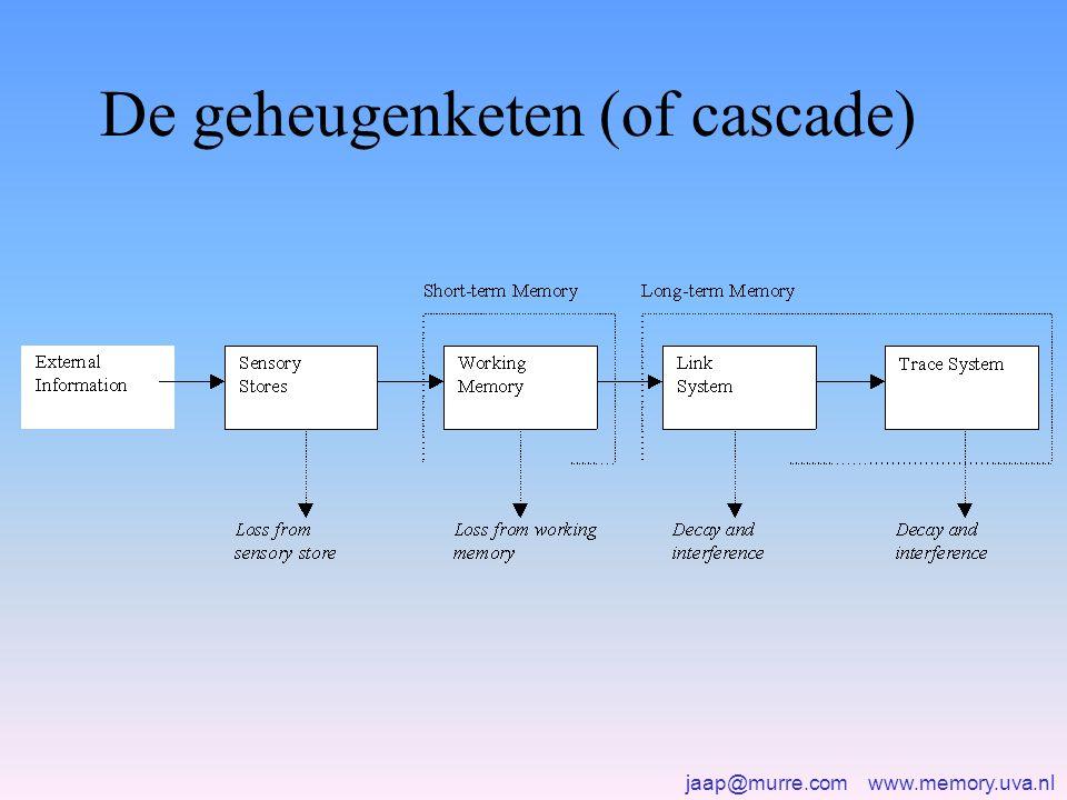 jaap@murre.com www.memory.uva.nl De geheugenketen (of cascade)
