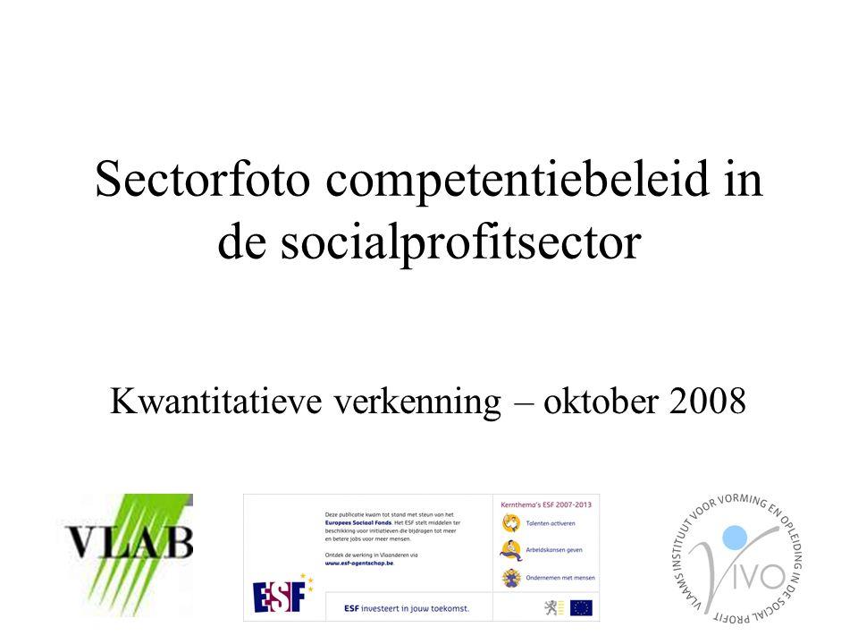 Sectorfoto competentiebeleid in de socialprofitsector Kwantitatieve verkenning – oktober 2008