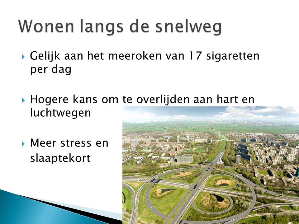  Gelijk aan het meeroken van 17 sigaretten per dag  Hogere kans om te overlijden aan hart en luchtwegen  Meer stress en slaaptekort