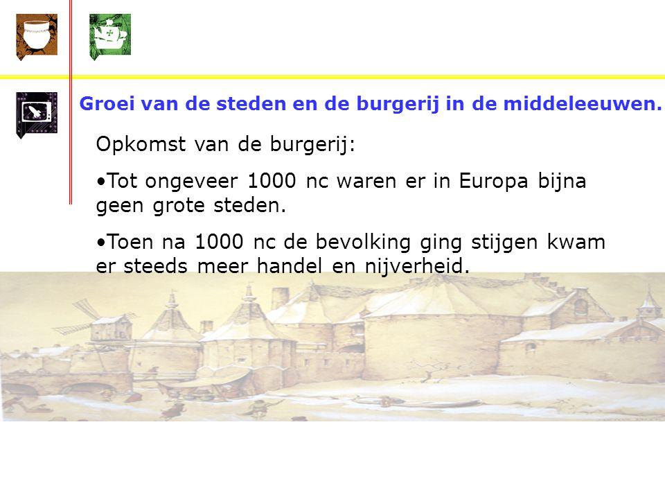 Groei van de steden en de burgerij in de middeleeuwen.