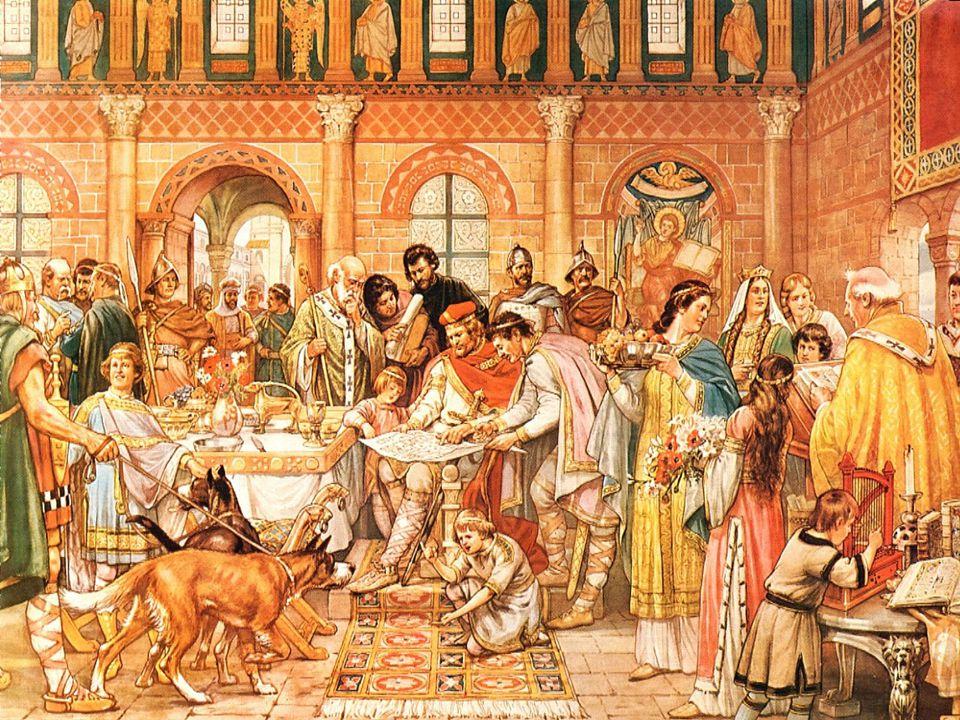 Middeleeuwen Feodalisme en het hofstelsel De koning werd de leenheer en zijn ridders de leenmannen of vazallen.