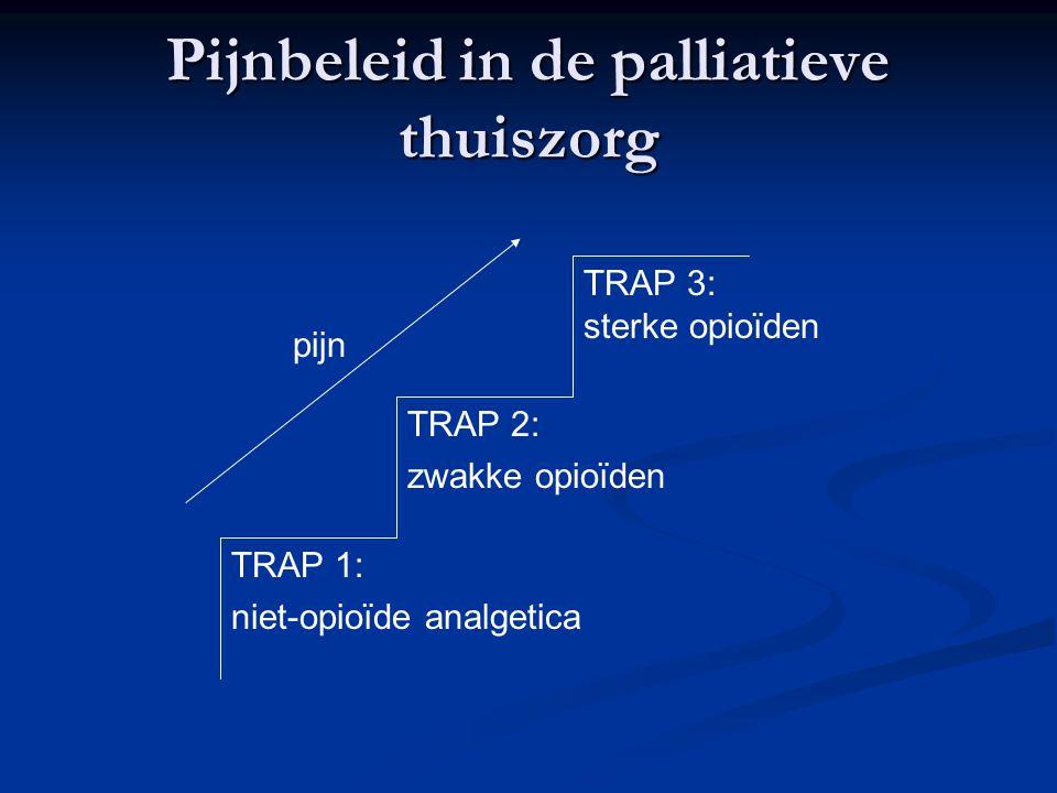 Pijnbeleid in de palliatieve thuiszorg TRAP 1: niet-opioïde analgetica TRAP 2: zwakke opioïden TRAP 3: sterke opioïden pijn