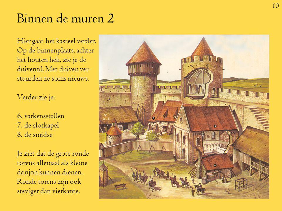 10 Binnen de muren 2 Hier gaat het kasteel verder.
