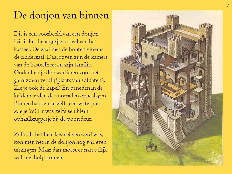 7 De donjon van binnen Dit is een voorbeeld van een donjon.