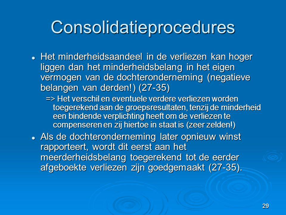 30 Informatieverschaffing In de geconsolideerde jaarrekening: (27-40) 1.
