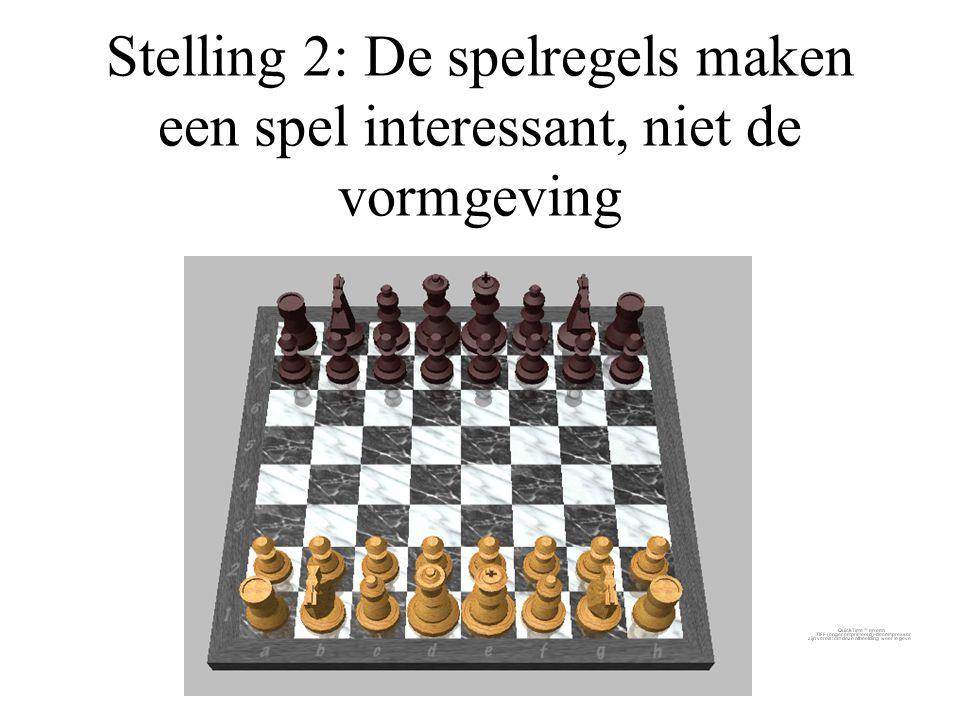 Stelling 2: De spelregels maken een spel interessant, niet de vormgeving