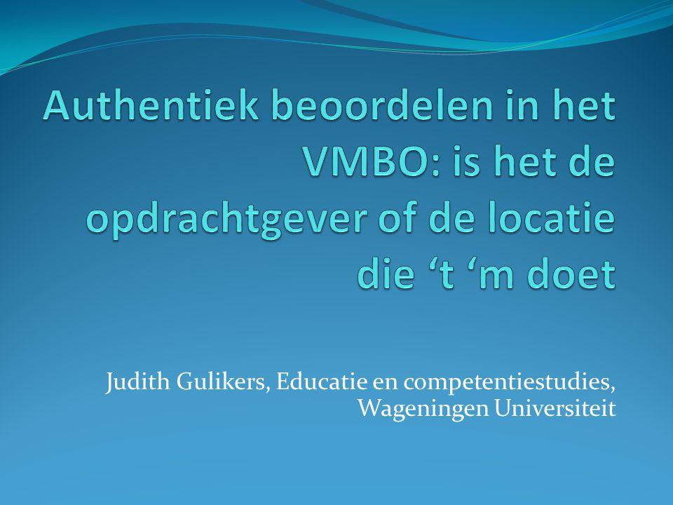 Judith Gulikers, Educatie en competentiestudies, Wageningen Universiteit