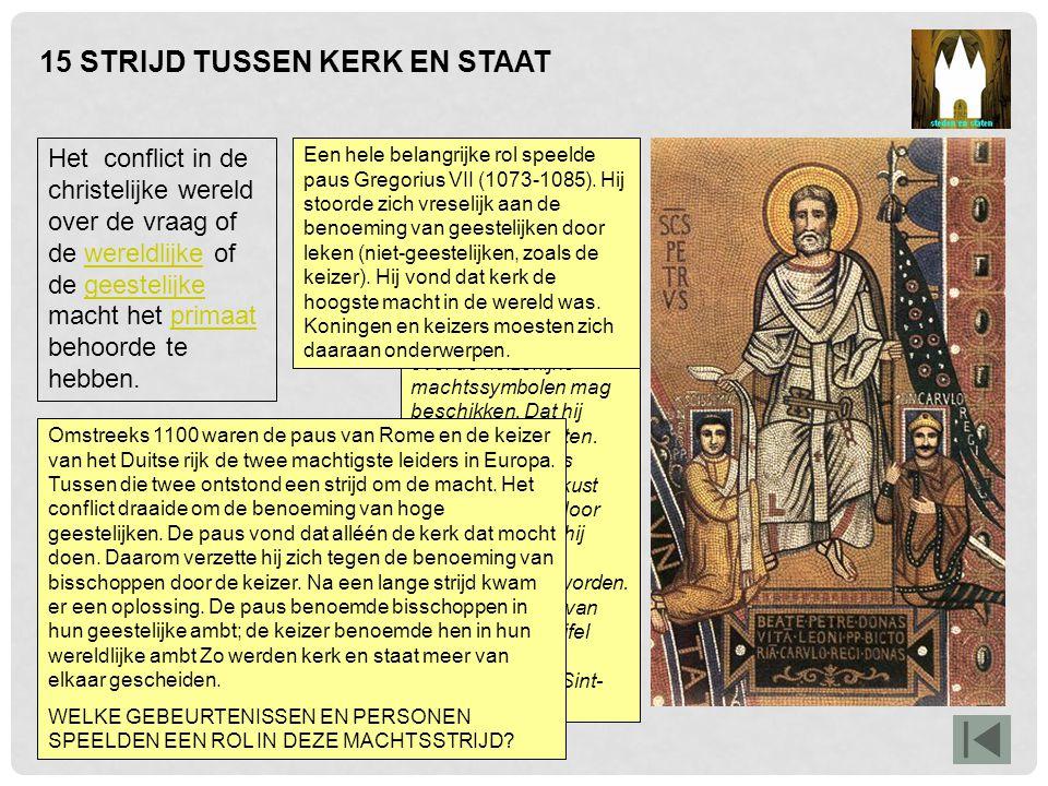 16 DE KRUISTOCHTEN De expansie van de christelijke wereld naar buiten toe, onder andere in de vorm van de kruistochten.expansiekruistochten De afbeelding laat zien dat de christenen de kruistochten beschouwden als een 'heilige oorlog': een monnik loopt voorop, hij wijst de weg, hij geeft aan dat dit de wil van God is.
