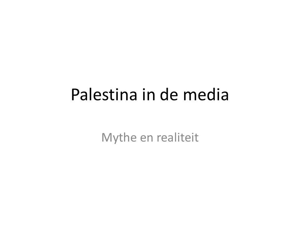 Palestina in de media Mythe en realiteit