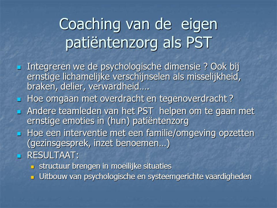 Coaching van de verhouding van het PST tgo de vragende teams  Hanteren van de eenvoudige vraag:  Is dit een 'crisisvraag' van het vragende team .