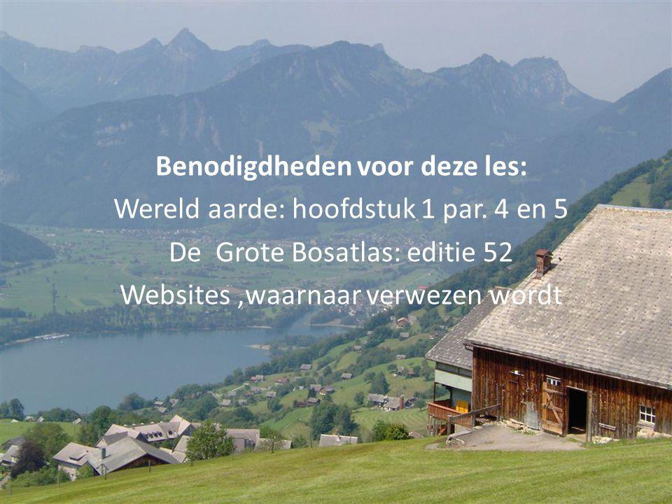 Vraag 11 • Zoek uit waar in Nederland hetzelfde agrrisch grondgebruik voorkomt als in de Alpen.