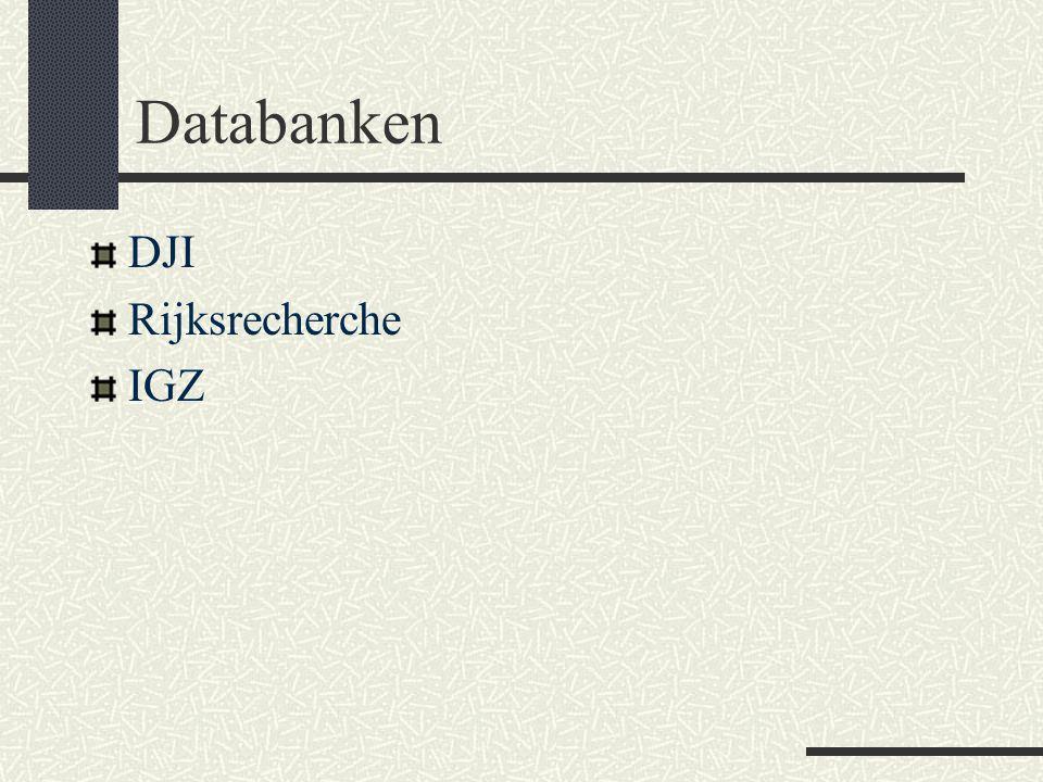 Databanken DJI Rijksrecherche IGZ