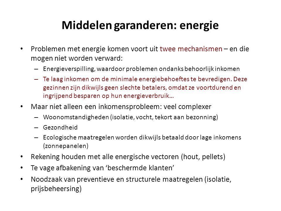 Middelen garanderen: energie • Problemen met energie komen voort uit twee mechanismen – en die mogen niet worden verward: – Energieverspilling, waardo