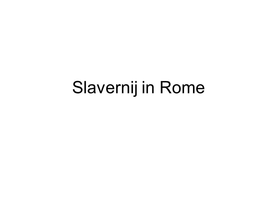 Slavernij in Rome