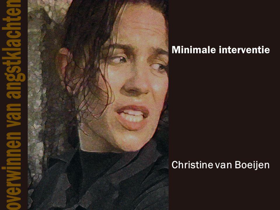 Minimale interventie Christine van Boeijen