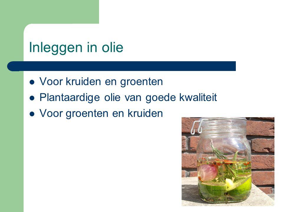 Inleggen in olie  Voor kruiden en groenten  Plantaardige olie van goede kwaliteit  Voor groenten en kruiden