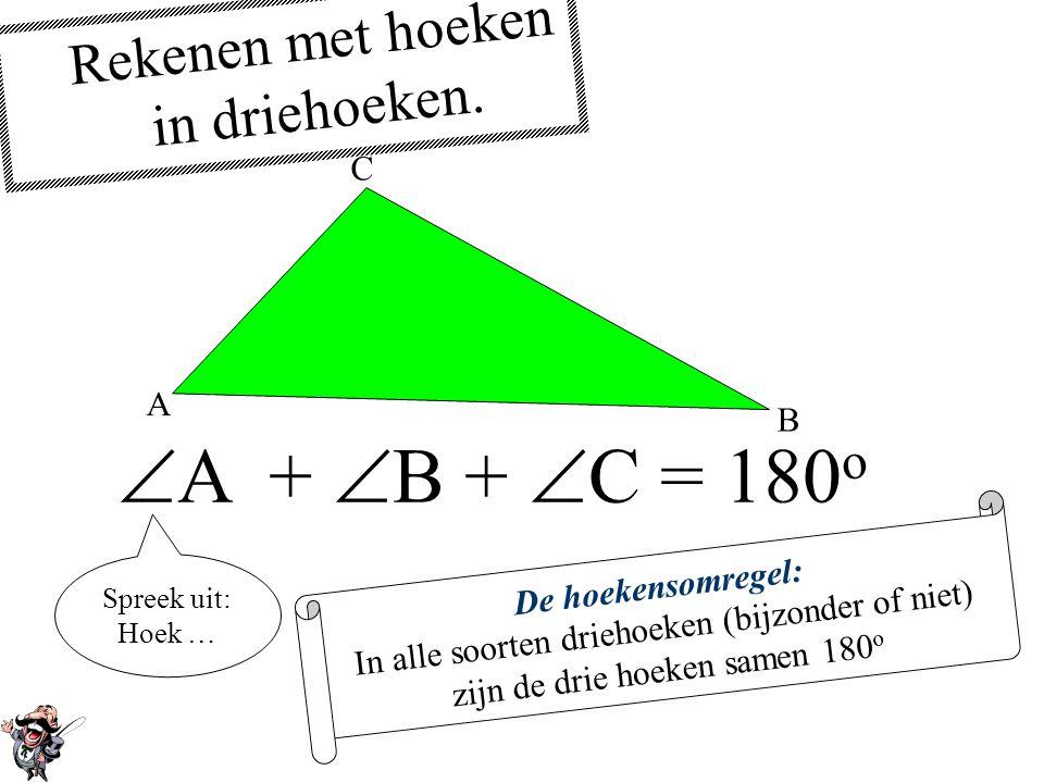 De bissectrice of deellijn De bissectrice of deellijn van een hoek deelt die hoek doormidden.