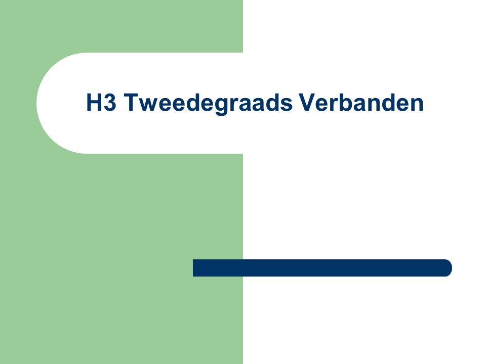 H3 Tweedegraads Verbanden